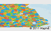 Political Panoramic Map of Jiangsu