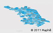 Political Shades Panoramic Map of Jiangsu, cropped outside