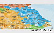 Political Shades Panoramic Map of Jiangsu