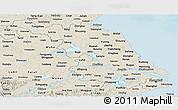 Shaded Relief Panoramic Map of Jiangsu