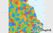 Political Simple Map of Jiangsu