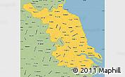 Savanna Style Simple Map of Jiangsu