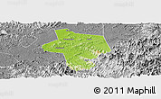 Physical Panoramic Map of Guangfen, desaturated