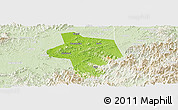 Physical Panoramic Map of Guangfen, lighten