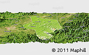 Physical Panoramic Map of Guangfen, satellite outside