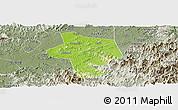 Physical Panoramic Map of Guangfen, semi-desaturated