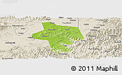 Physical Panoramic Map of Guangfen, shaded relief outside