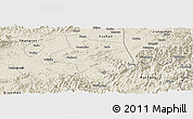 Shaded Relief Panoramic Map of Guangfen