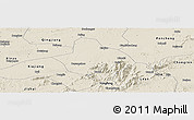Shaded Relief Panoramic Map of Xingan