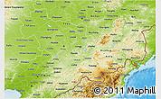 Physical 3D Map of Jilin