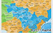 Political Shades 3D Map of Jilin
