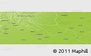 Physical Panoramic Map of Baicheng Shi