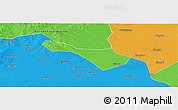 Political Panoramic Map of Baicheng Shi