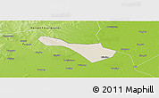 Shaded Relief Panoramic Map of Baicheng Shi, physical outside