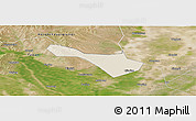 Shaded Relief Panoramic Map of Baicheng Shi, satellite outside