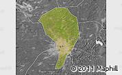 Satellite Map of Changchun Shiqu, desaturated