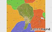 Satellite Map of Changchun Shiqu, political outside
