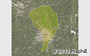 Satellite Map of Changchun Shiqu, semi-desaturated