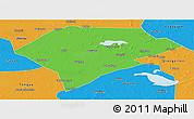 Political Panoramic Map of Da An