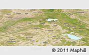 Satellite Panoramic Map of Da An