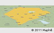 Savanna Style Panoramic Map of Da An