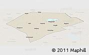 Shaded Relief Panoramic Map of Da An, lighten