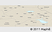 Shaded Relief Panoramic Map of Da An