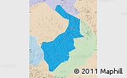 Political Map of Dongfeng, lighten