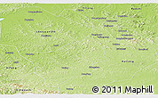 Physical Panoramic Map of Dongfeng