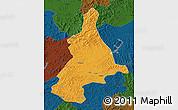 Political Map of Dunhua, darken