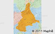 Political Map of Dunhua, lighten