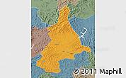 Political Map of Dunhua, semi-desaturated