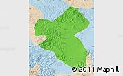 Political Map of Fusong, lighten