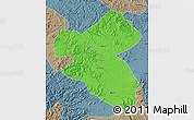 Political Map of Fusong, semi-desaturated