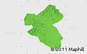 Political Map of Fusong, single color outside