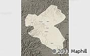 Shaded Relief Map of Fusong, darken