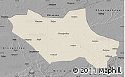 Shaded Relief Map of Fuyu, darken, desaturated