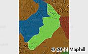 Political Map of Hailong, darken