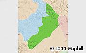 Political Map of Hailong, lighten