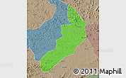 Political Map of Hailong, semi-desaturated