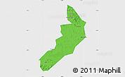 Political Map of Hailong, single color outside