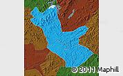 Political Map of Huadian, darken