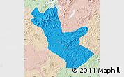 Political Map of Huadian, lighten