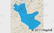 Political Map of Huadian, shaded relief outside