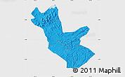 Political Map of Huadian, single color outside