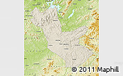 Shaded Relief Map of Huadian, physical outside