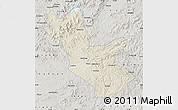 Shaded Relief Map of Huadian, semi-desaturated