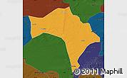 Political Map of Huaide, darken