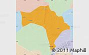 Political Map of Huaide, lighten