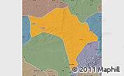 Political Map of Huaide, semi-desaturated